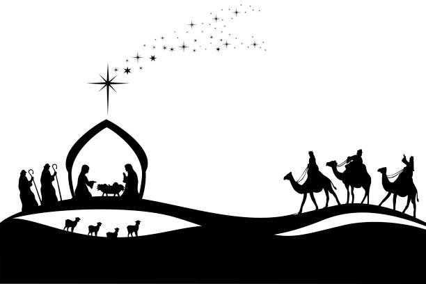 ilustrações de stock, clip art, desenhos animados e ícones de jesus was born - reis magos