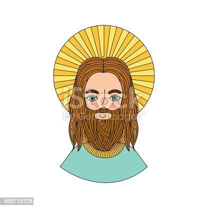istock jesuschrist man icon 659710128