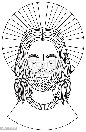 istock jesuschrist with halo character religious icon 670483696