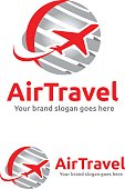istock Jet Aircraft with Globe symbol for Travel Agency, Tour company, Air Ticket Agency. 854974636