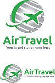 istock Jet Aircraft with Globe symbol for Travel Agency, Tour company, Air Ticket Agency. 854974638