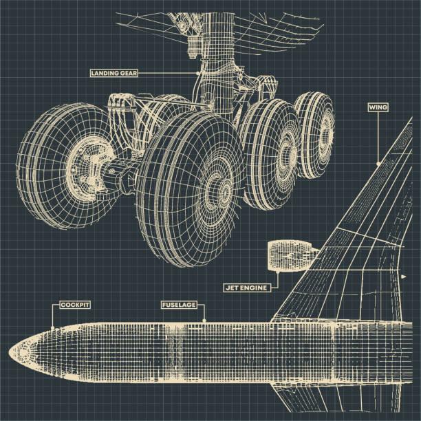 illustrations, cliparts, dessins animés et icônes de dessins de jet airliner - transport aérien