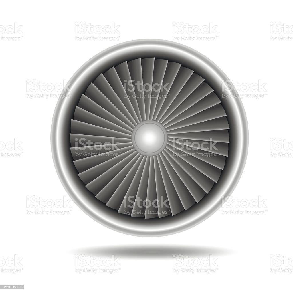 Jet Engine Turbine. Vector – Vektorgrafik