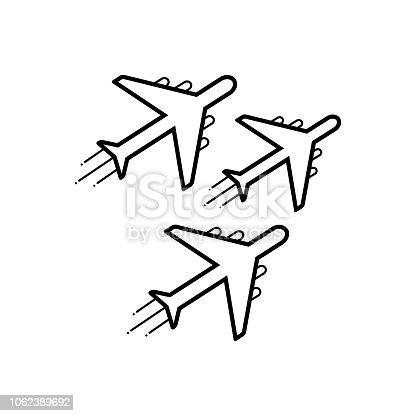 Icon for jet, exhibit, reactivity, plane, aerial, navigation