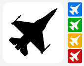 Jet Icon Flat Graphic Design