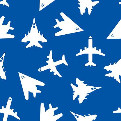 Jet Pattern Silhouette