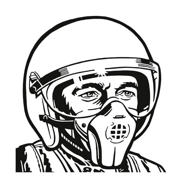 Best Fighter Pilot Helmet Illustrations, Royalty-Free ...