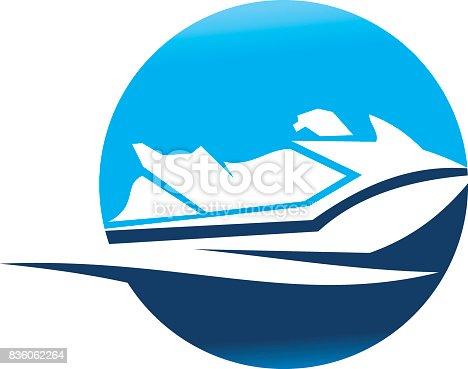 istock Jet Ski Motor Boat 836062264