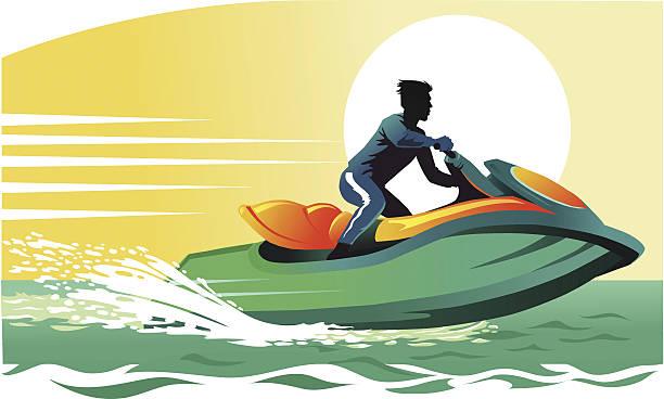 Top 60 jet ski clip art vector graphics and illustrations istock - Jet ski dessin ...