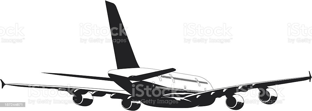 A-380 Jetliner royalty-free stock vector art