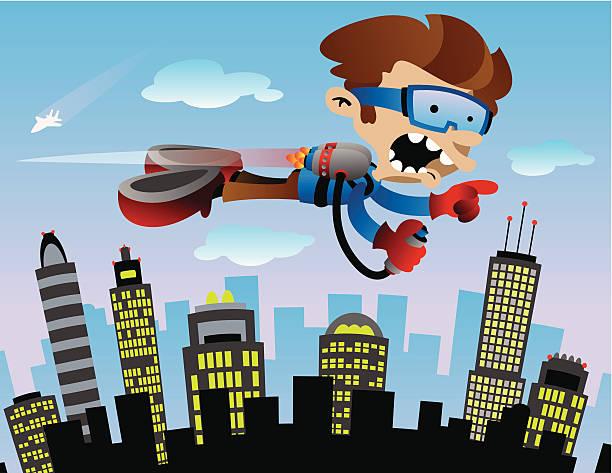 JetPack vector art illustration