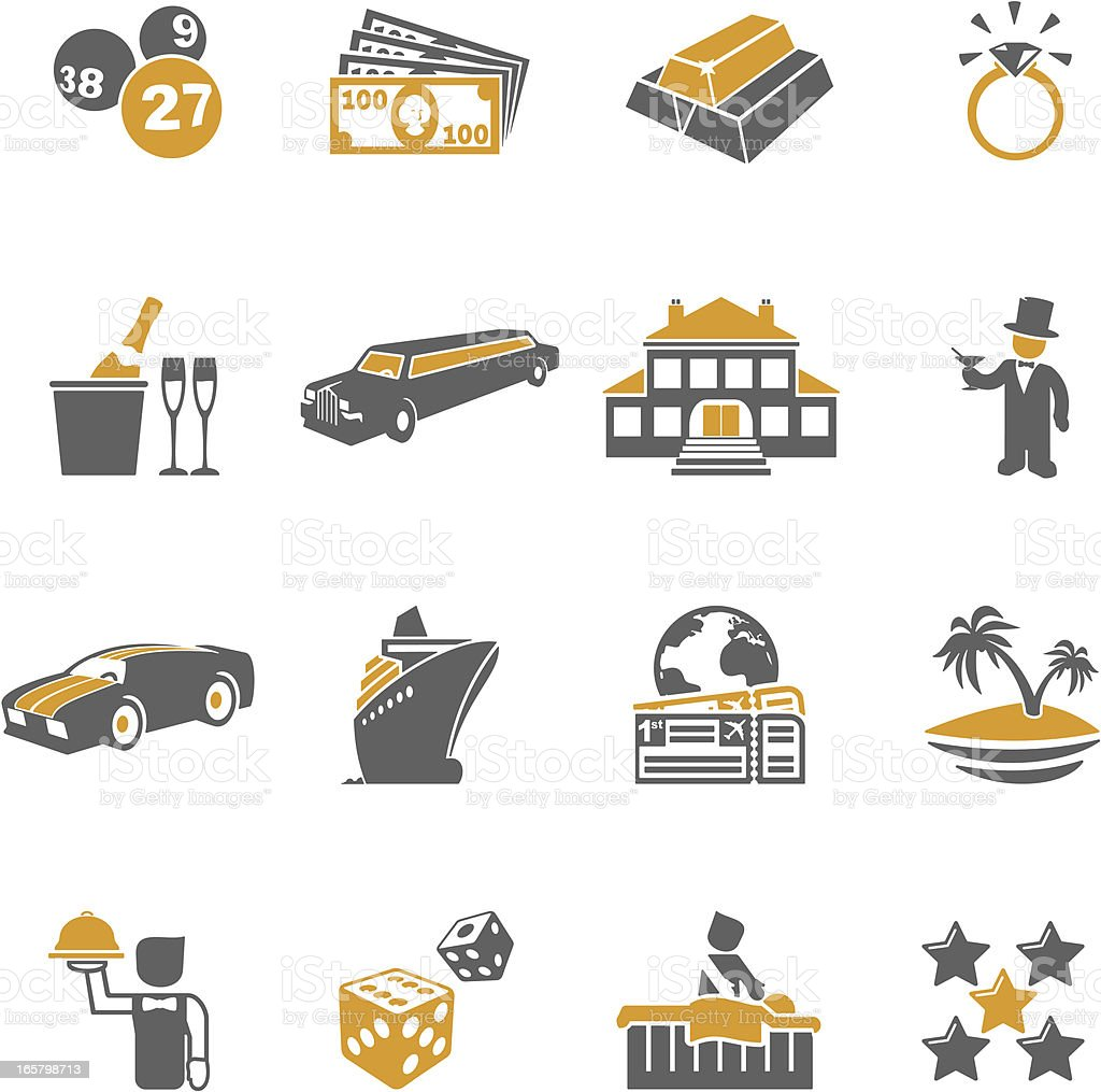 Jet-set Icons vector art illustration