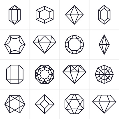 Jewel and Gem Icons and Symbols