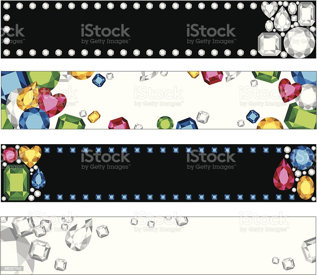 Jewel Banners royalty-free jewel banners stock vector art & more images of amethyst