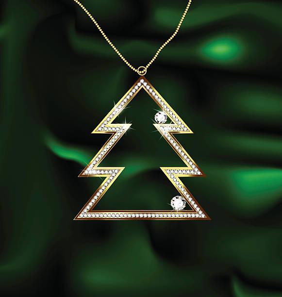 jewel christmas tree - perlenweben stock-grafiken, -clipart, -cartoons und -symbole