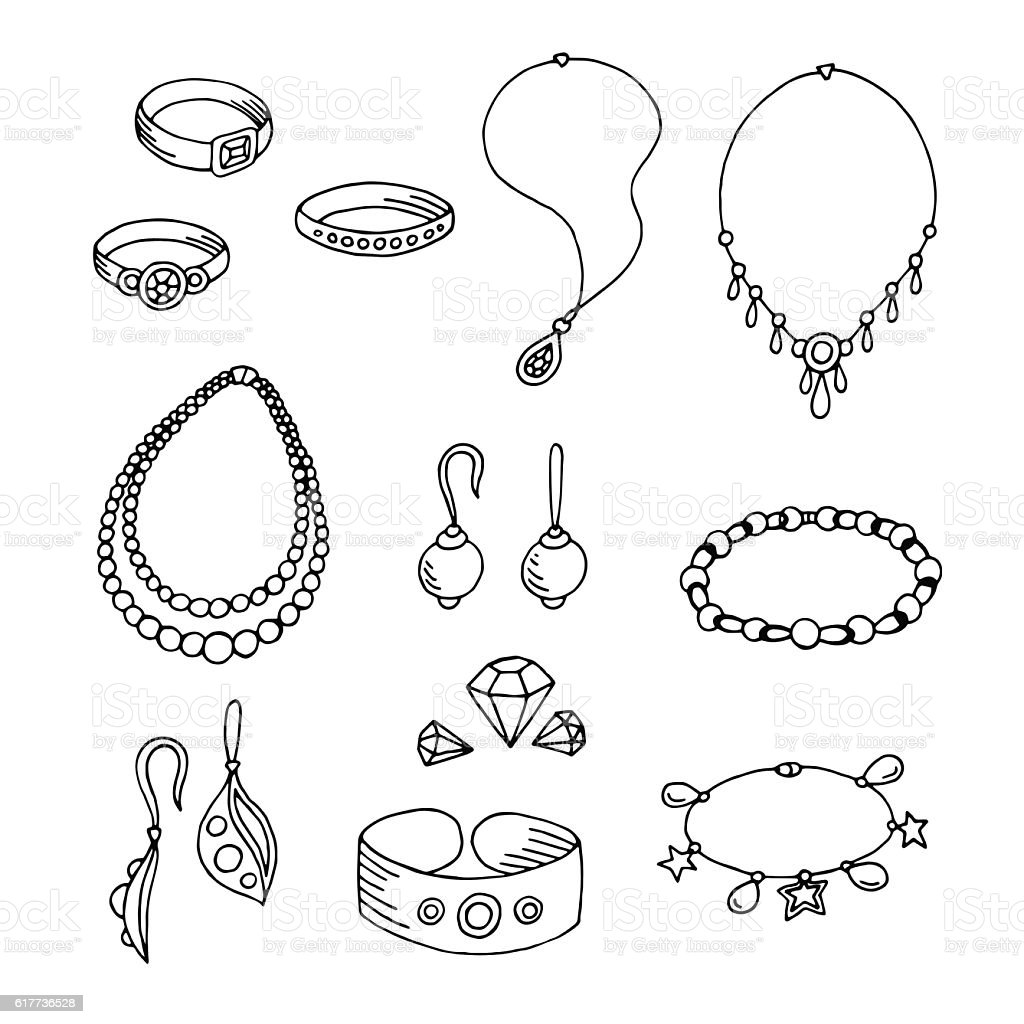 Jewel graphic black white isolated sketch illustration vector - ilustración de arte vectorial