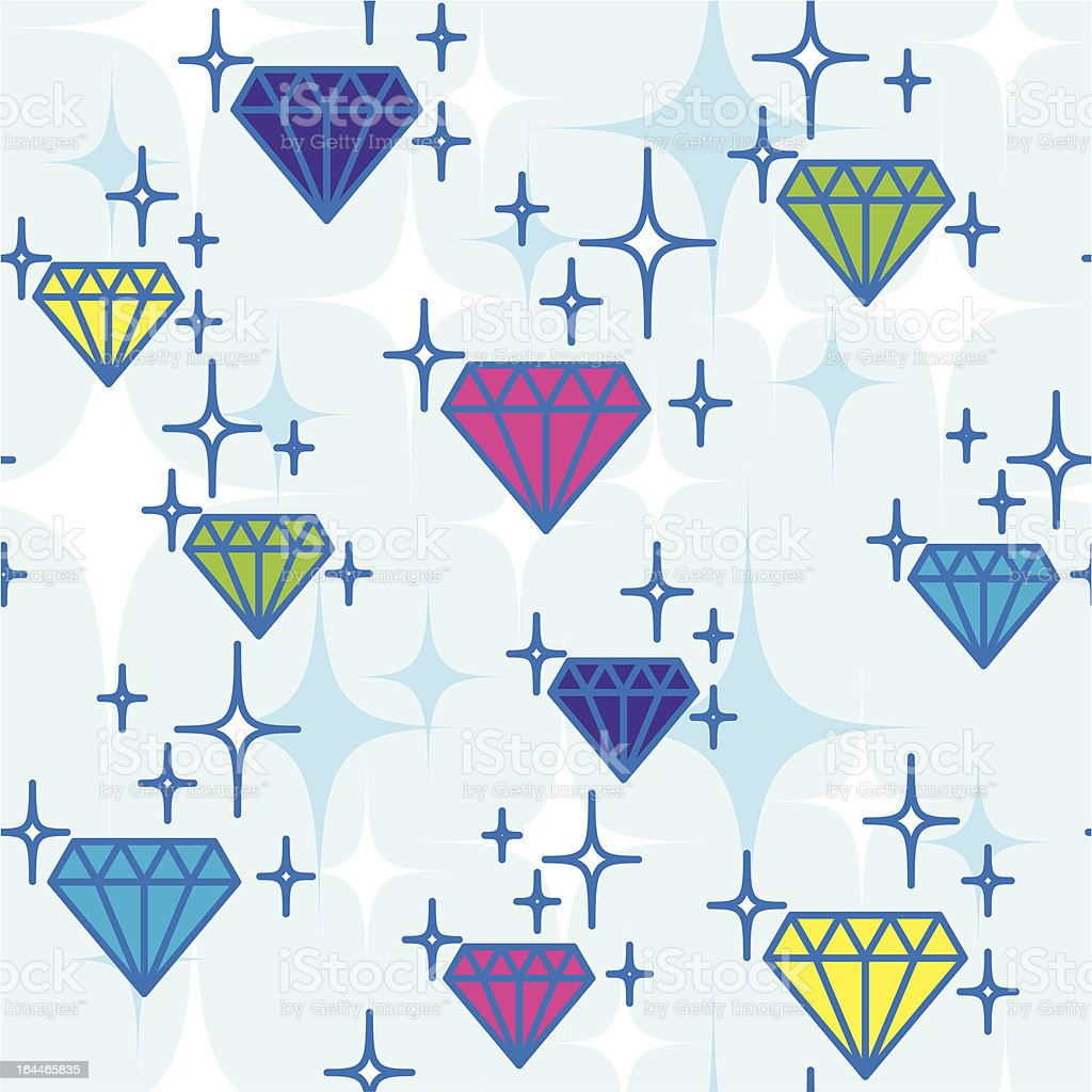 jewel pattern vector art illustration