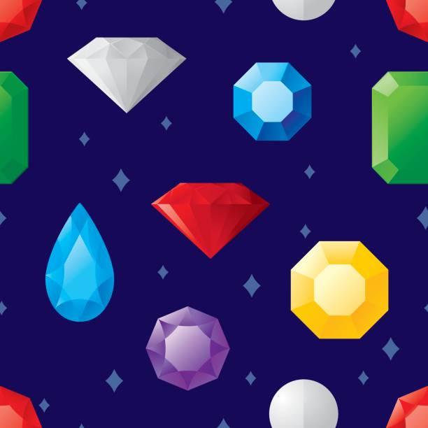 juwel-muster - modeschmuck stock-grafiken, -clipart, -cartoons und -symbole