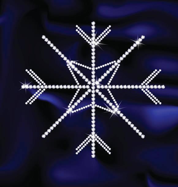 jewel schneeflocken - - perlenweben stock-grafiken, -clipart, -cartoons und -symbole