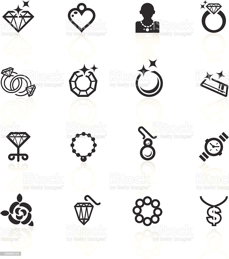 Jewelery Icons - minimo series royalty-free stock vector art