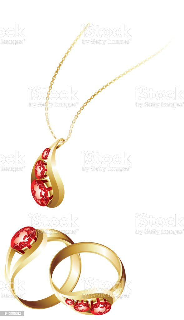 Jewellery royalty-free stock vector art
