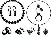 jewelry black and white set