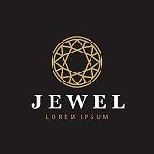 Jewelry company icontype. Jewelry icon. Diamond symbol.
