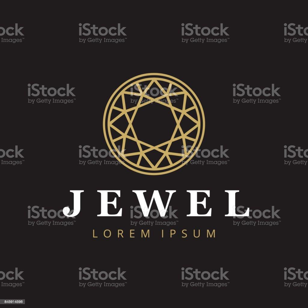 Jewelry company icontype. Jewelry icon. Diamond symbol. vector art illustration