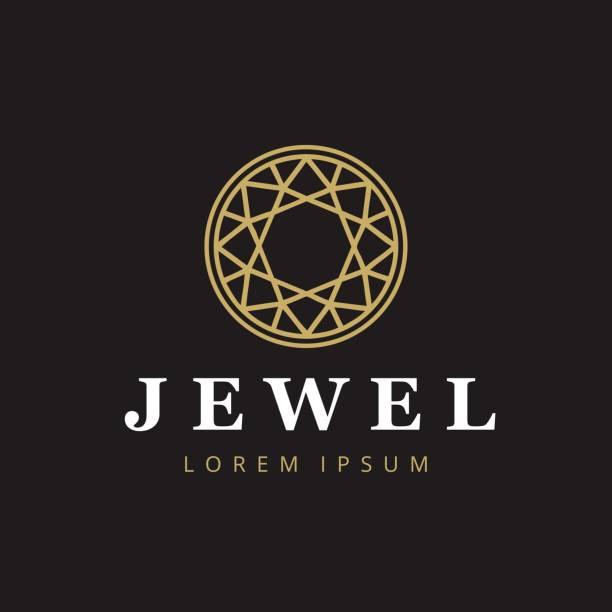 ilustraciones, imágenes clip art, dibujos animados e iconos de stock de icontype de la empresa de joyería. icono de la joyería. símbolo de diamante. - joyas