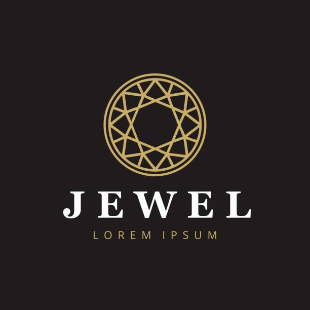 jewelry company icontype. jewelry icon. diamond symbol. - jewelry stock illustrations
