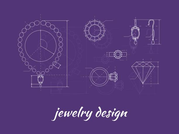 jewelry design banner - jewelry stock illustrations