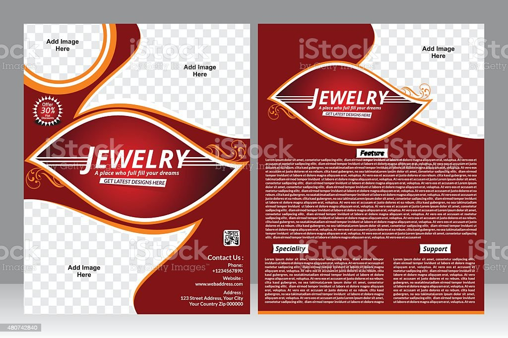 Jewelry Design Flyer Design Template Stock Vector Art  More Images