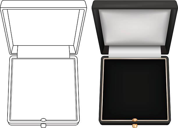 jewelry gift box. open box - plüsch stock-grafiken, -clipart, -cartoons und -symbole