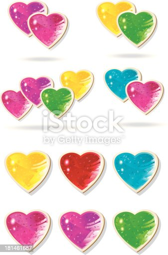 istock jewelry glossy hearts with inserted glisterconfetti. 181461687