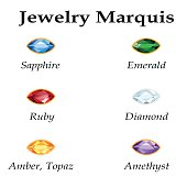 Jewelry Marquis. Isolated Objects