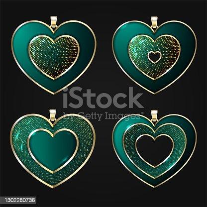 istock Jewelry pendants 1302280736