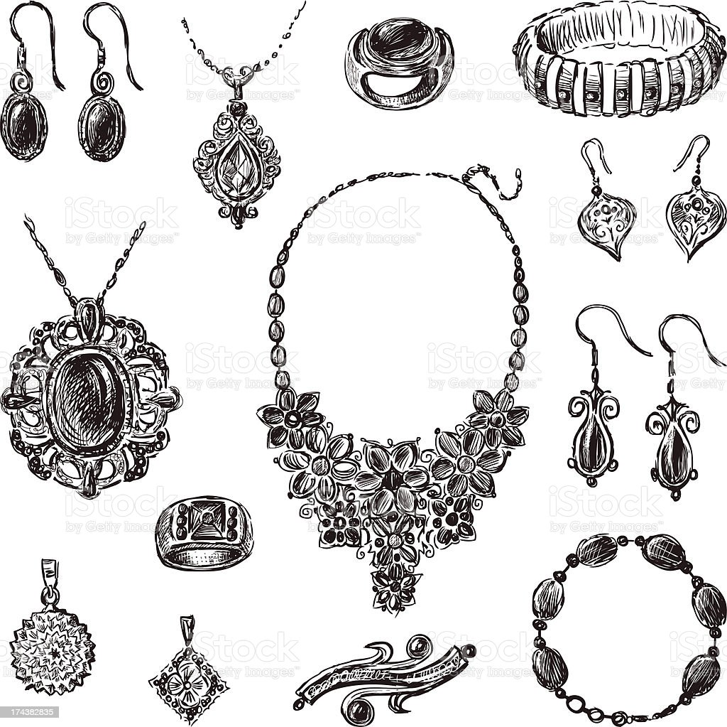 jewelry royalty-free jewelry stock vector art & more images of art
