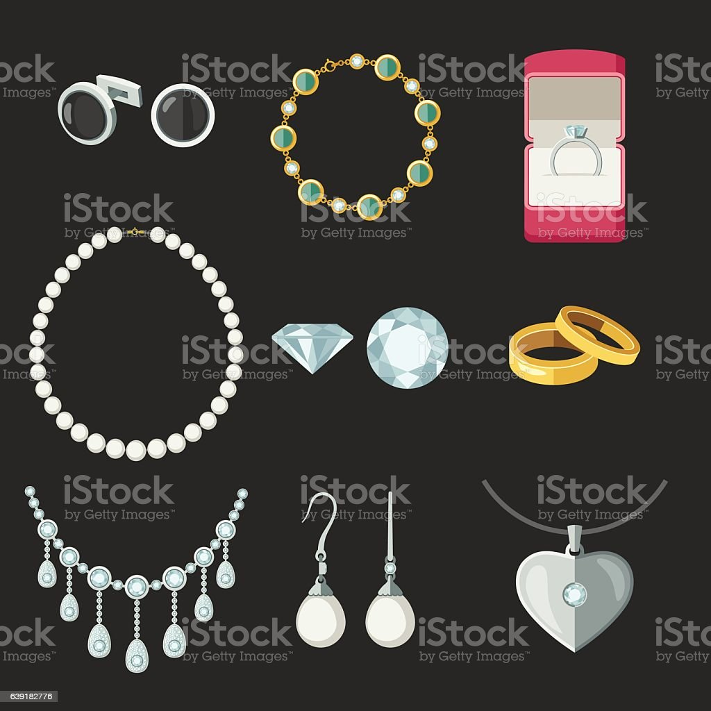 Jewelry vector art illustration