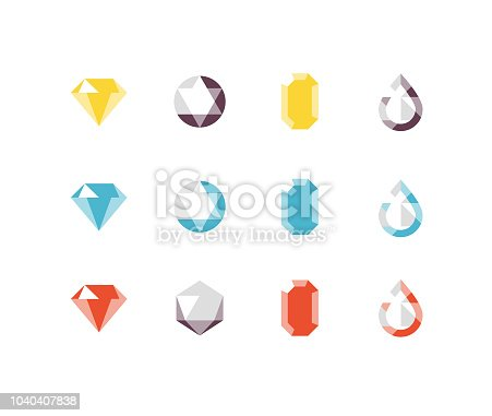 Shiny jewelry, gems, and jewels including diamond, emerald, ruby, topaz