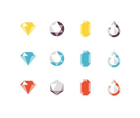 Jewels Flat icons