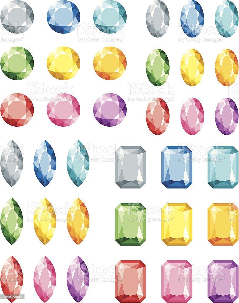 Jewels - incl. jpeg royalty-free stock vector art