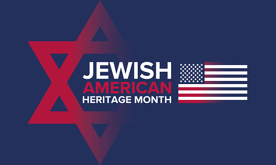 Jewish American Heritage Month. Celebrated in May. Annual recognition of Jewish American achievements in and contributions to the United States of America. Poster, card, banner and background. Vector illustration