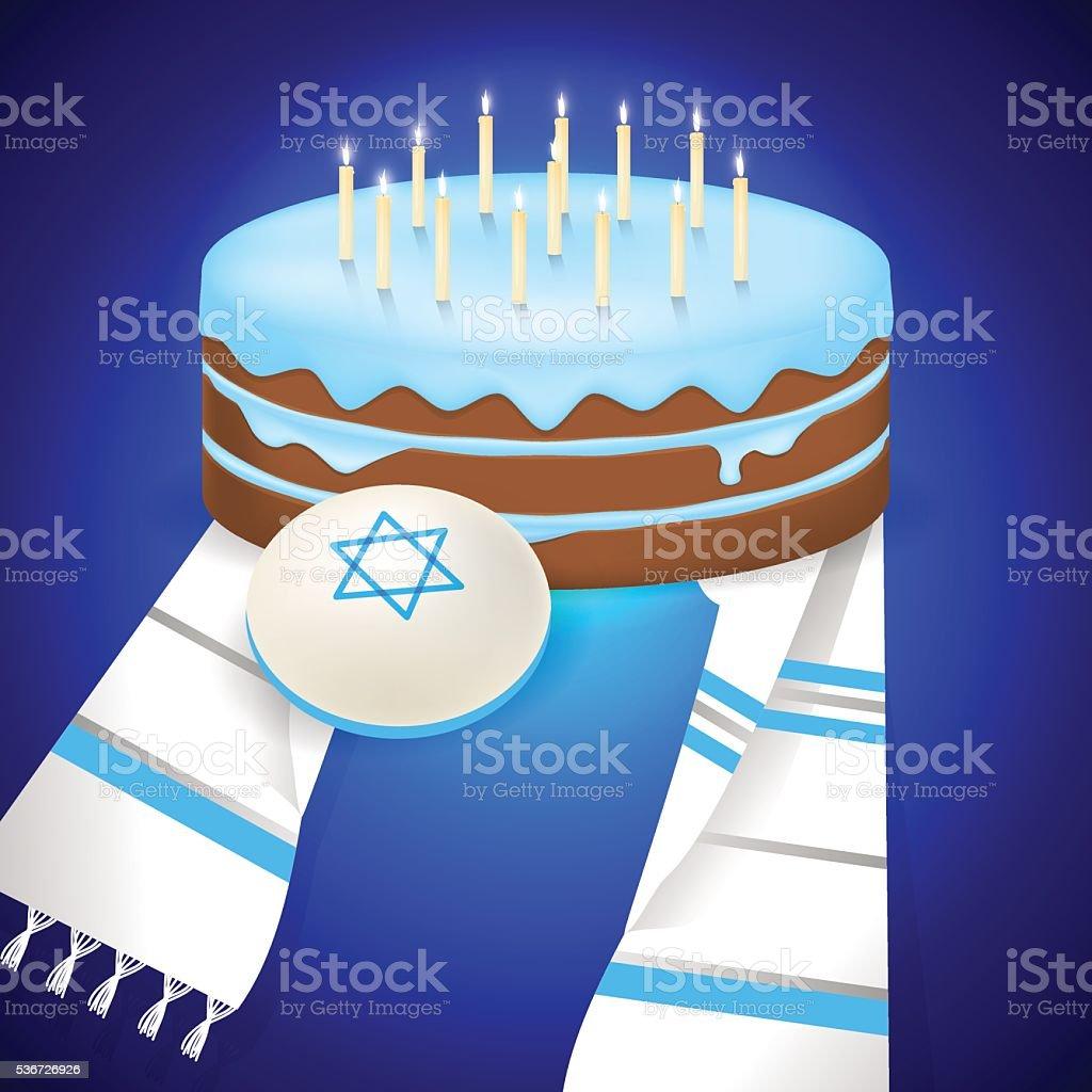 Jewish bar mitzvah  illustration. vector art illustration