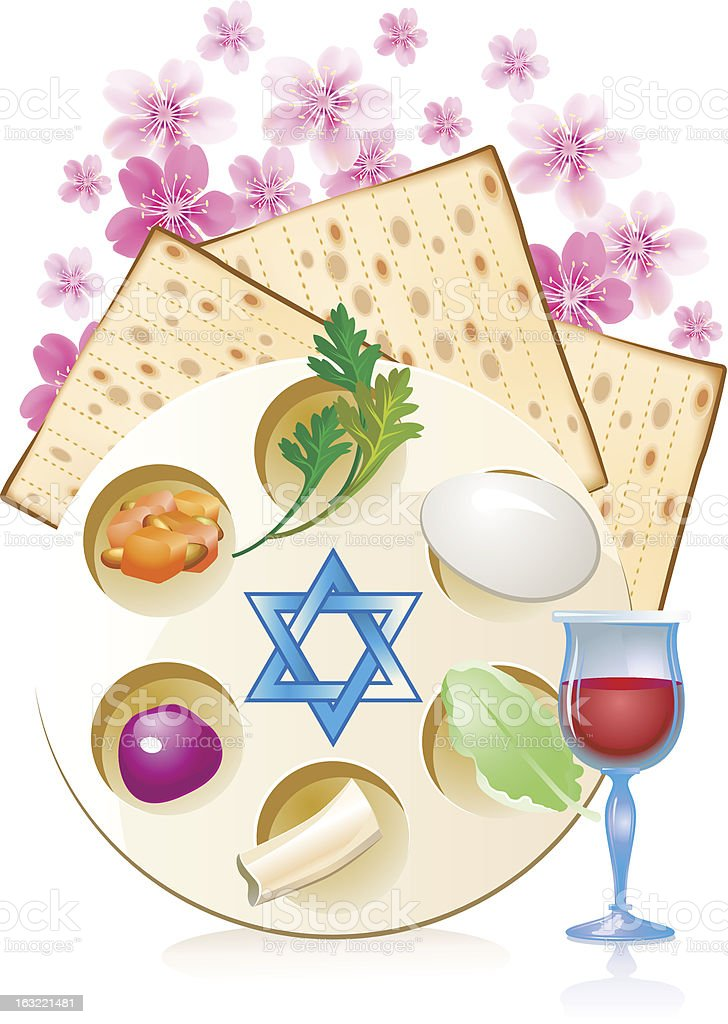 Jewish celebrate pesach passover royalty-free stock vector art