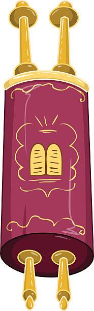 Jewish Golden Closed Torah Holy Bible vector art illustration
