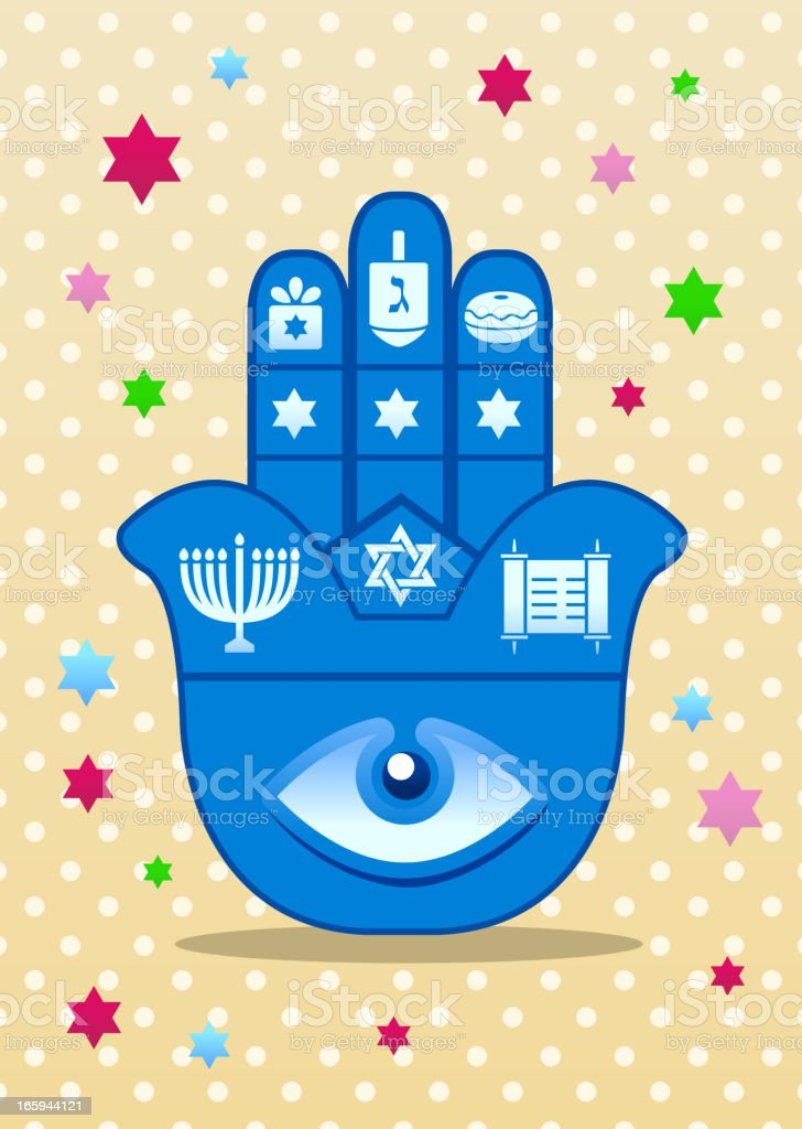 Jewish Hamsa. royalty-free stock vector art
