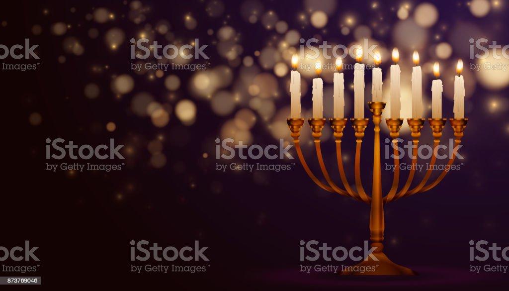 Fête juive fond de Hanukkah - Illustration vectorielle