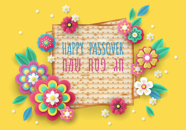 jewish holiday passover banner design - passover stock illustrations, clip art, cartoons, & icons