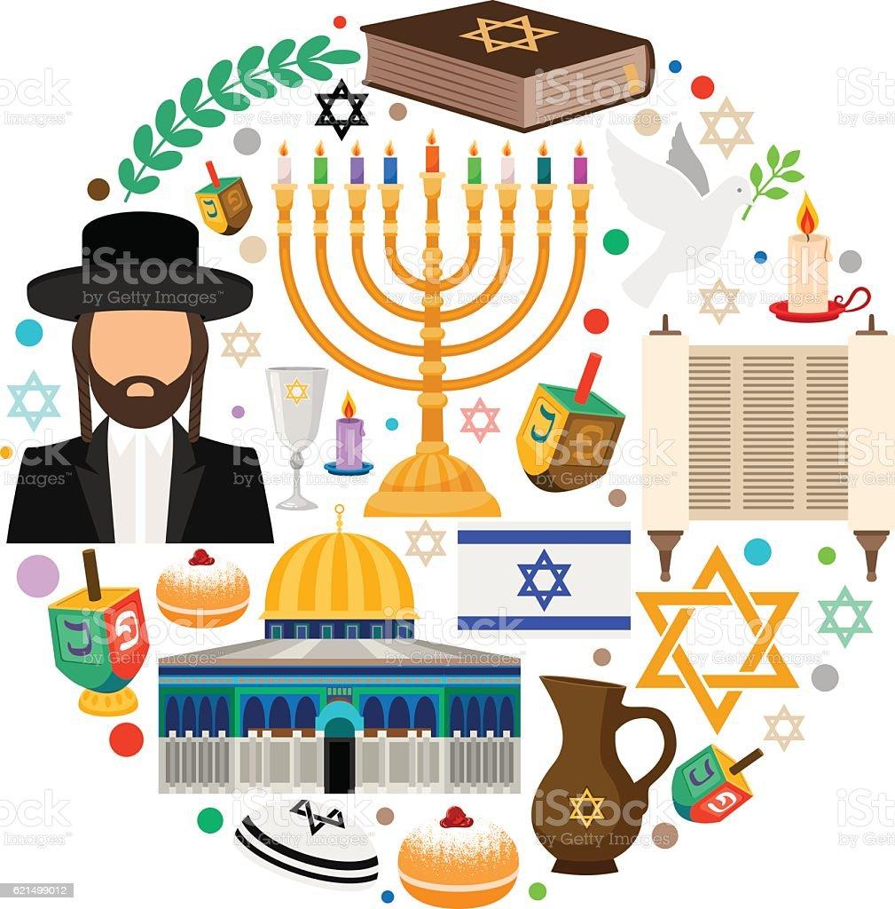 Jewish holiday symbols jewish holiday symbols - immagini vettoriali stock e altre immagini di a forma di stella royalty-free