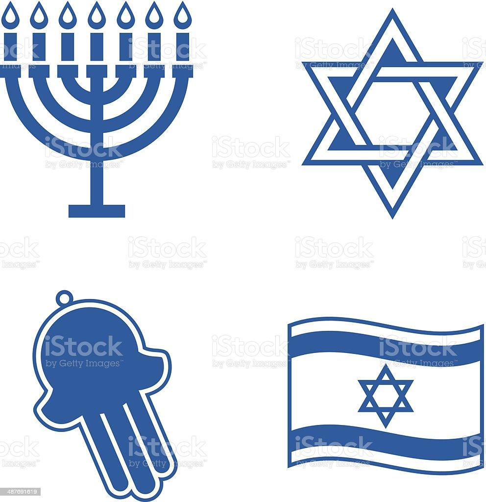 Jewish icons. vector art illustration